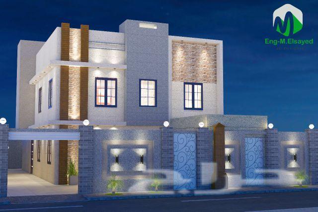 بالصور واجهات منازل , اجمل تصميمات لواجهات منازل جميلة 5926 2