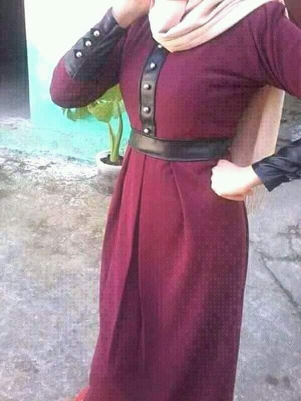 صورة موديلات حجابات جزائرية مخيطة , اجمل موديلات جزائرية مخيطة