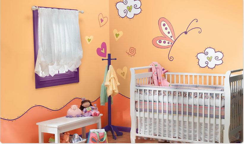 صور دهانات غرف اطفال , الوان عصريه لحوائط اوض الصغار