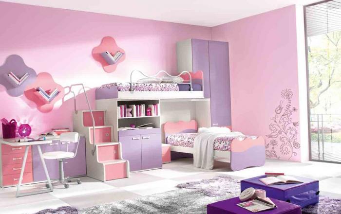 بالصور غرف اطفال بنات , ديكورات اوض فتيات صغيره 1198 6