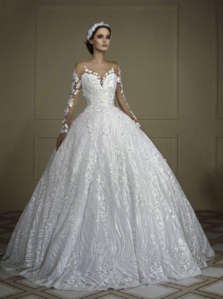 04db105ab فساتين عرايس فخمه , افضل واشيك فساتين للعروس - احبك موت