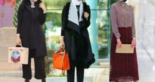 ملابس شتوية للمحجبات تركية , موديلات ثياب نسائيه شتوي بالحجاب من تركيا