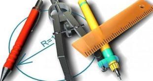 صورة ادوات هندسية , ادوات الرسم الهندسى
