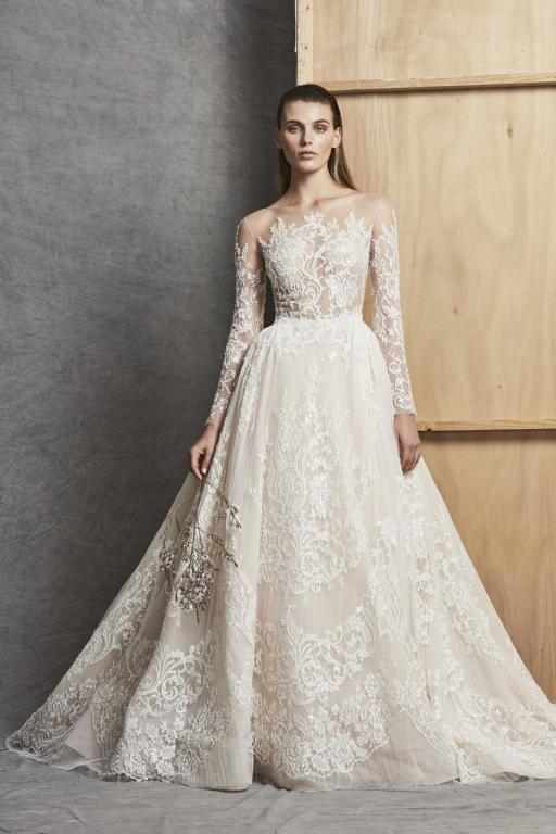 صورة فساتين زفاف زهير مراد 2019 , اجمل وحدث فساتين زفاف