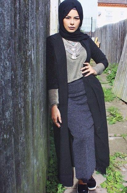 صورة اشيك ملابس محجبات , اجمل واشيك ملابس للمحجبات 2237 3