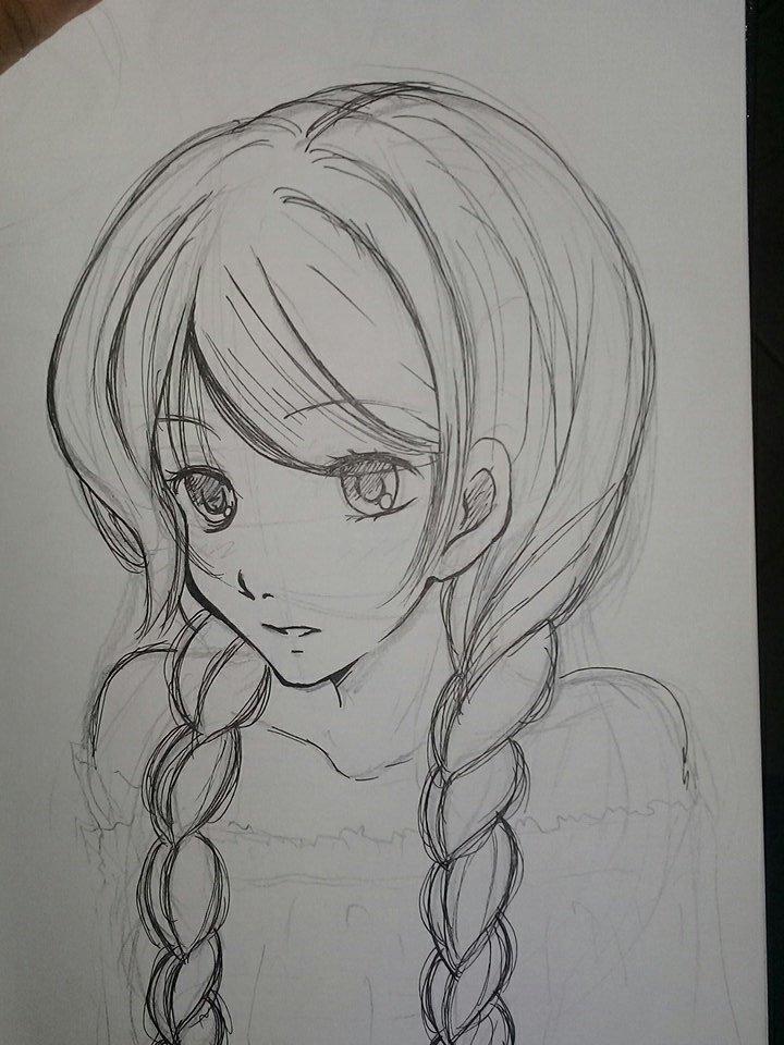 رسم انمي رسومات انمي سهله وجميله احبك موت