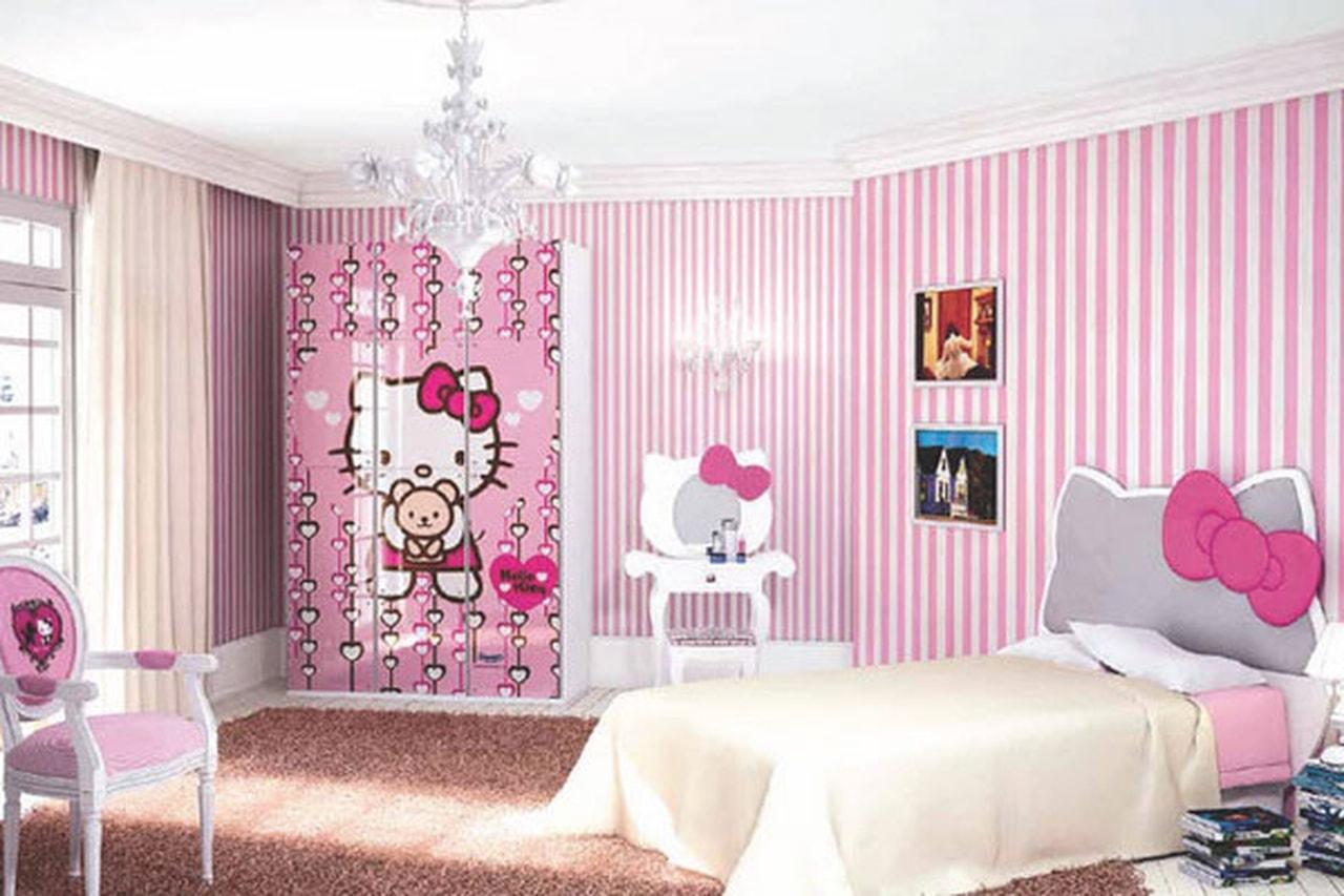 صورة ديكورات غرف نوم بنات , احدث وافخم ديكورات بنات 2019