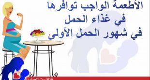 صورة تغذية الحامل في الشهر الاول , انواع الغذاء للحامل في الشهر الاول