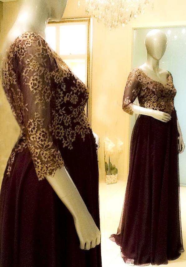 صورة فساتين سهرة للحوامل , تشكيله جديده لفساتين سواريه للحوامل 527 2