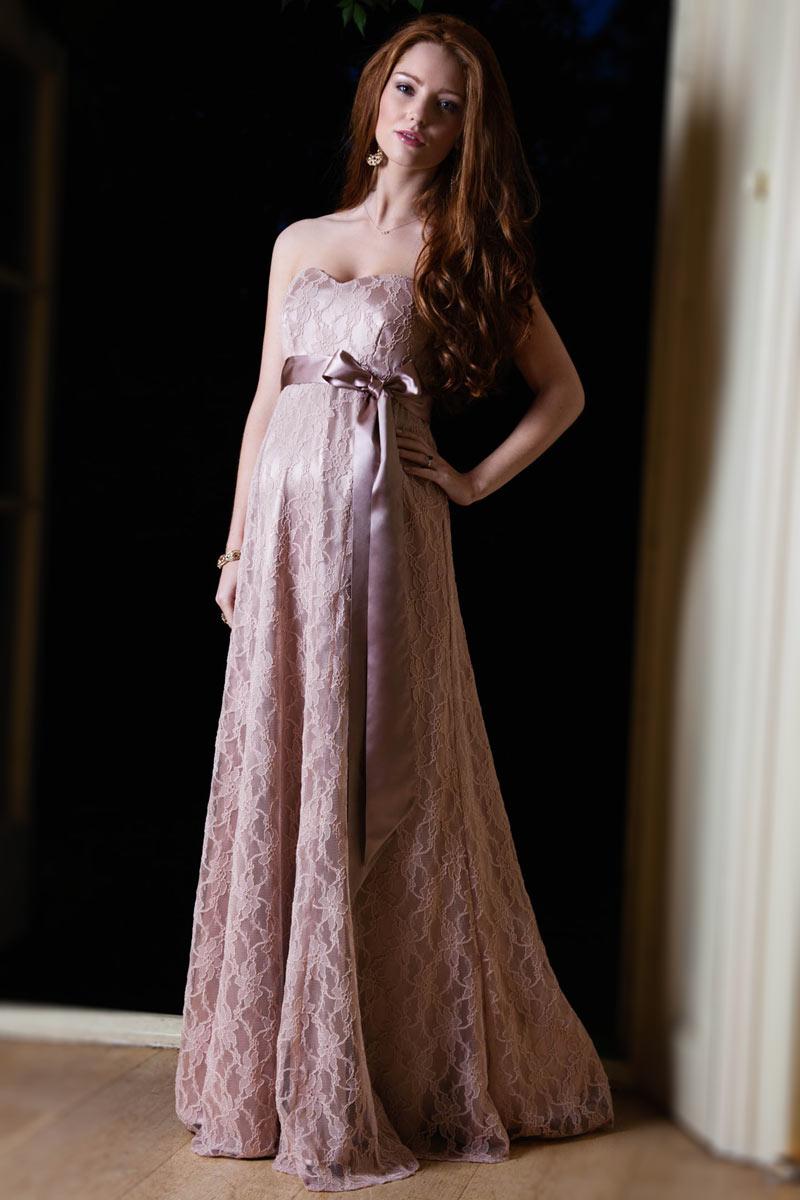 صورة فساتين سهرة للحوامل , تشكيله جديده لفساتين سواريه للحوامل 527 4