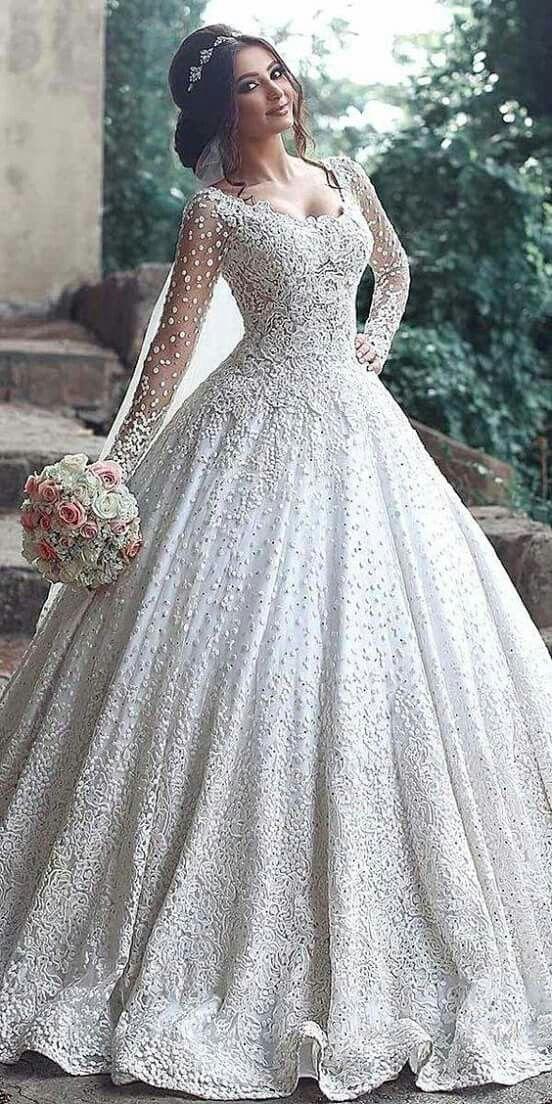 بالصور فساتين زفاف فخمه , احدث اصدارات فساتين الزفاف 1976 3
