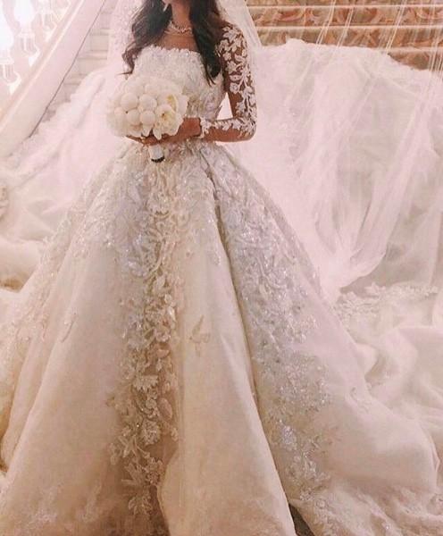 بالصور فساتين زفاف فخمه , احدث اصدارات فساتين الزفاف 1976 4