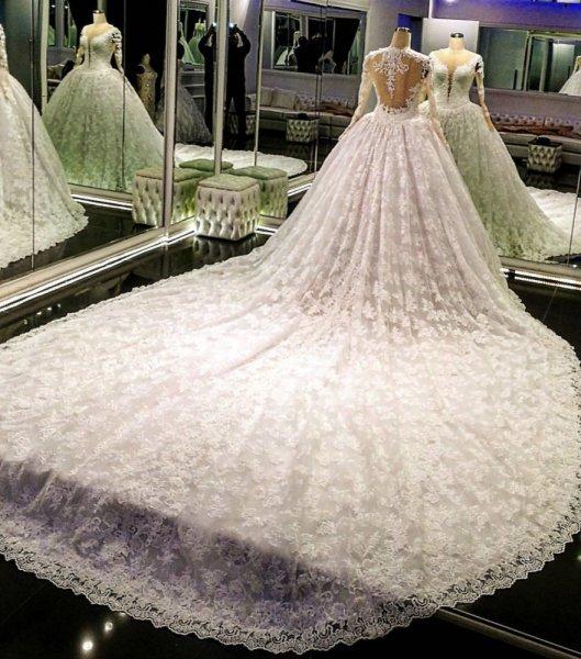 بالصور فساتين زفاف فخمه , احدث اصدارات فساتين الزفاف 1976 9