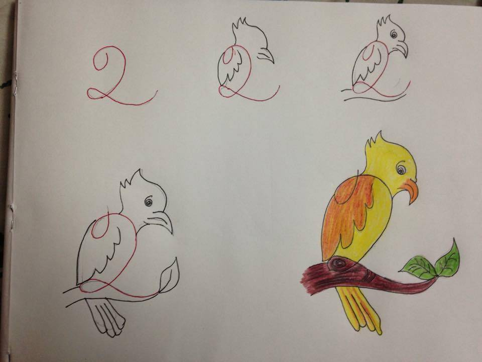 بالصور رسومات سهله وحلوه , رسم جميل وتعليم الرسم بسهوله 343 8
