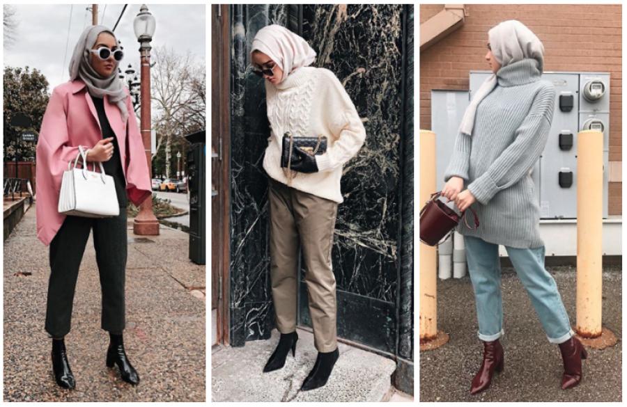 بالصور ملابس شتوية للمحجبات , الشتاء وملابس السيدات المحجبات 430