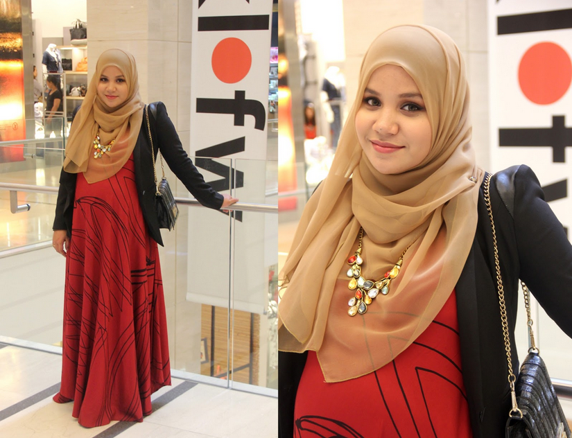 بالصور ملابس للحوامل المحجبات , الحجاب مع الحمل والتوافق فى الملابس 436 1