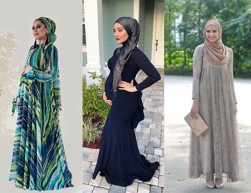 بالصور ملابس للحوامل المحجبات , الحجاب مع الحمل والتوافق فى الملابس 436 11