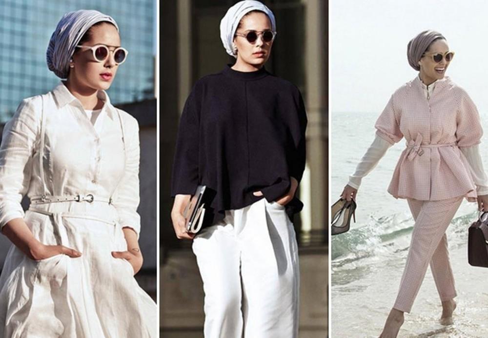 بالصور ملابس للحوامل المحجبات , الحجاب مع الحمل والتوافق فى الملابس 436 13