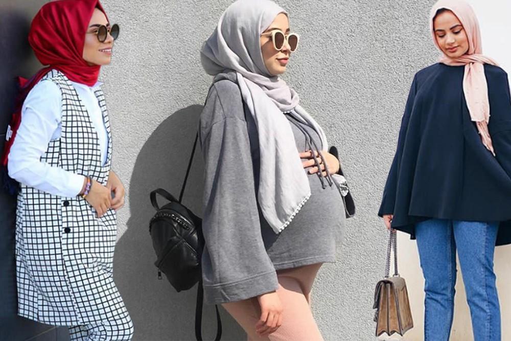 بالصور ملابس للحوامل المحجبات , الحجاب مع الحمل والتوافق فى الملابس 436 18