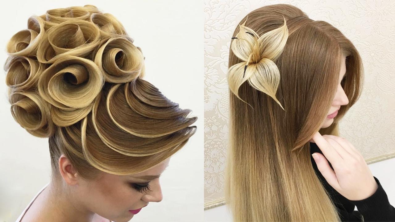 بالصور اجمل تسريحة شعر في العالم , الجمال وظبط الشعر واسهل الطرق للتسريحات 454 10