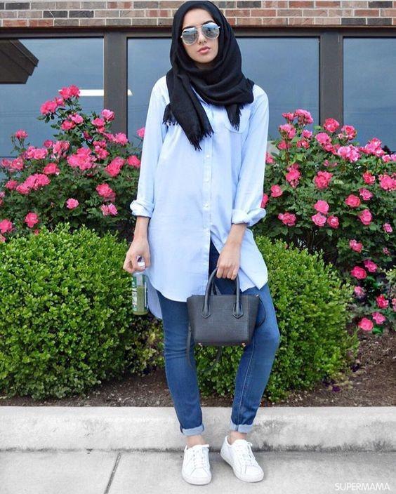 بالصور ملابس محجبات كاجوال , ملابس انيقه للحجاب 4554 10