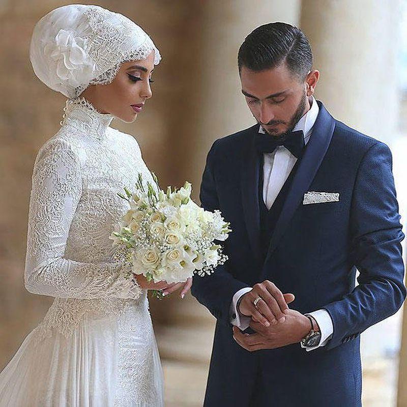 بالصور فساتين اعراس للمحجبات , الحجاب وظهورك يوم الزفاف 615 5