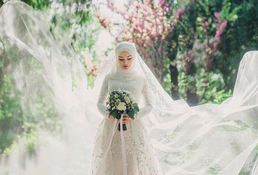 بالصور فساتين اعراس للمحجبات , الحجاب وظهورك يوم الزفاف 615 7
