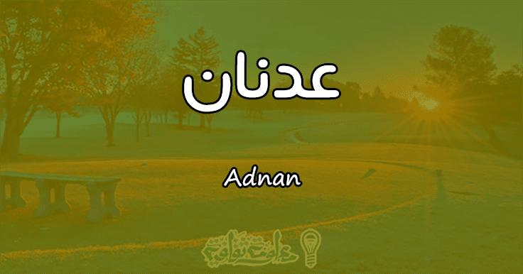بالصور معنى اسم عدنان , صفات اسم عدنان ومعناه 3381 2