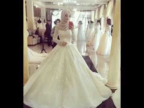 بالصور فساتين زفاف محجبات , اروع فساتين الزفاف 3143 10