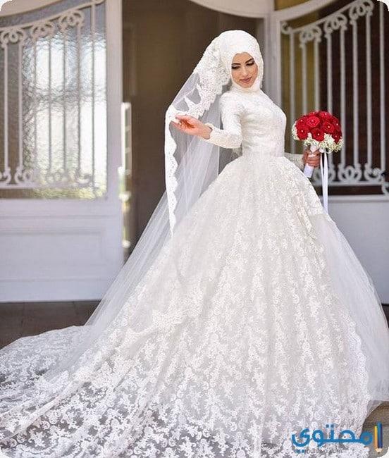 بالصور فساتين زفاف محجبات , اروع فساتين الزفاف 3143 3