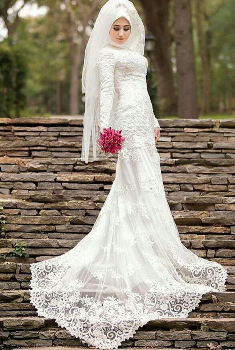 بالصور فساتين زفاف محجبات , اروع فساتين الزفاف 3143 6