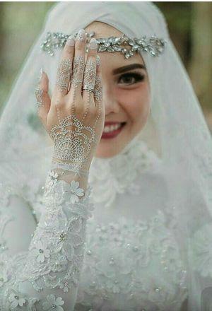 بالصور فساتين زفاف محجبات , اروع فساتين الزفاف 3143