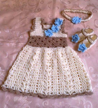 بالصور فساتين اطفال كروشيه , اجمل فستان اطفال كروشية 4130 1