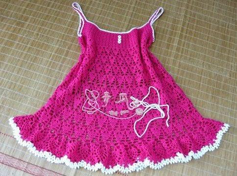 بالصور فساتين اطفال كروشيه , اجمل فستان اطفال كروشية 4130 11