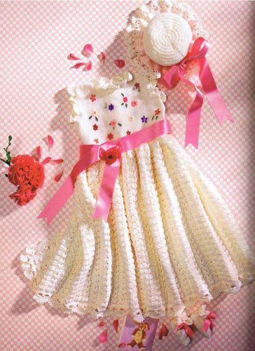 بالصور فساتين اطفال كروشيه , اجمل فستان اطفال كروشية 4130 8