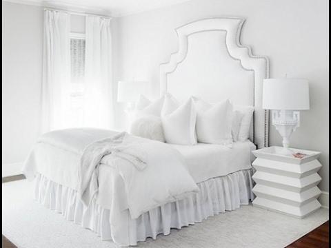 صورة غرف نوم بيضاء , احدث تصميمات لغرف النوم البيضاء