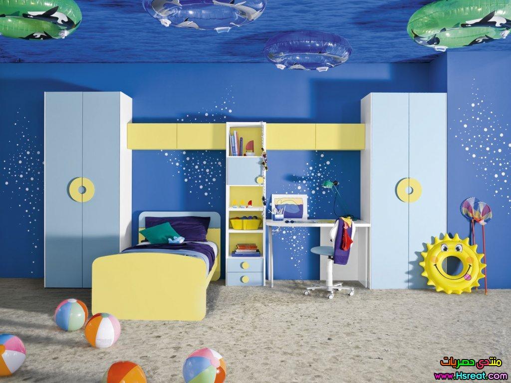 صور غرف اطفال باللون الازرق , احلى غرف نوم لاطفال باللون الازرق