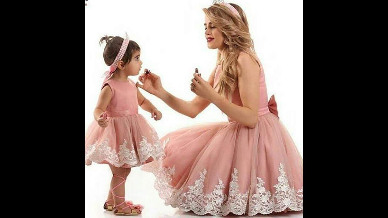 بالصور ام وبنتها بنفس اللبس , اجمل ملابس بين الام و بنتها 11651 4