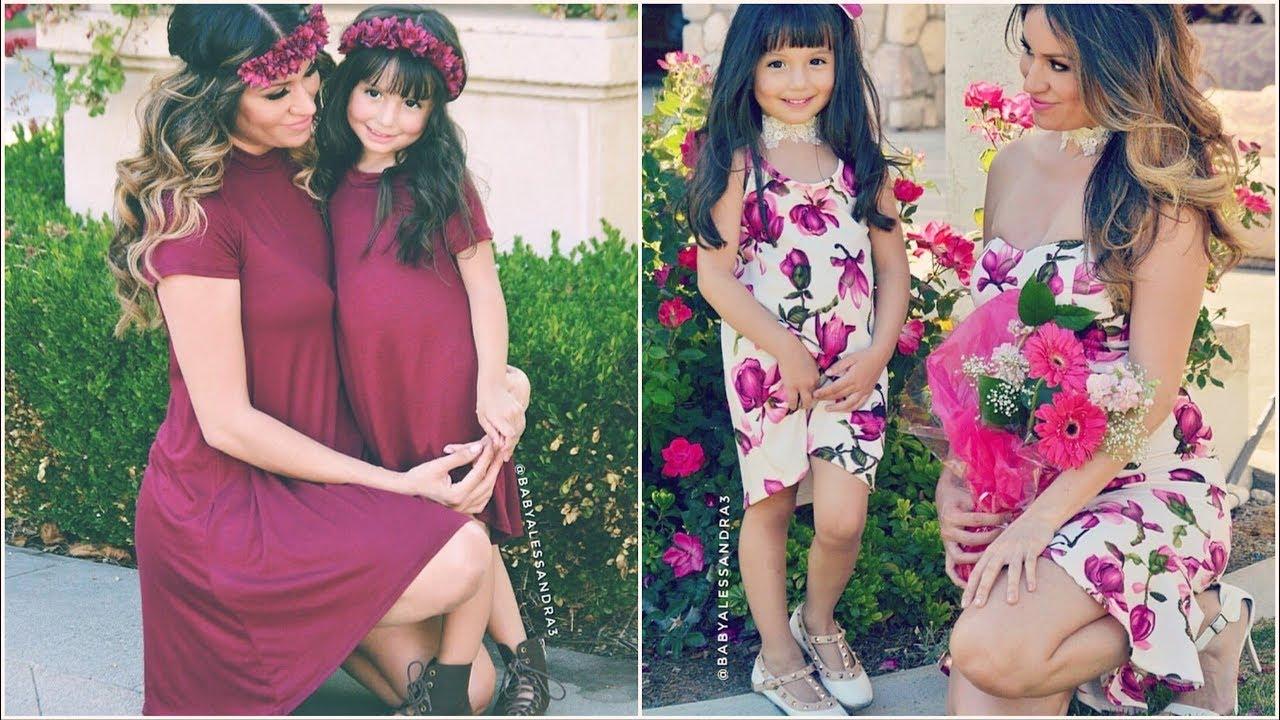 صورة ام وبنتها بنفس اللبس , اجمل ملابس بين الام و بنتها