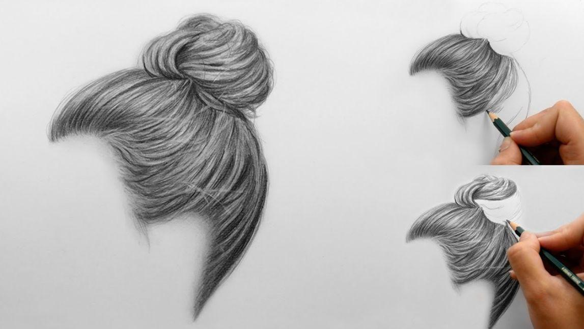 طريقة رسم الشعر ابسط طريقة لتعلم رسم الشعر احبك موت