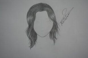 صورة طريقة رسم الشعر , ابسط طريقة لتعلم رسم الشعر