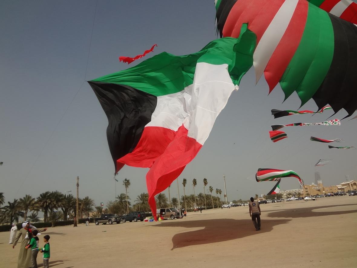 صورة شكل علم الكويت , تعرف على معلومات الكويت وعن العلم