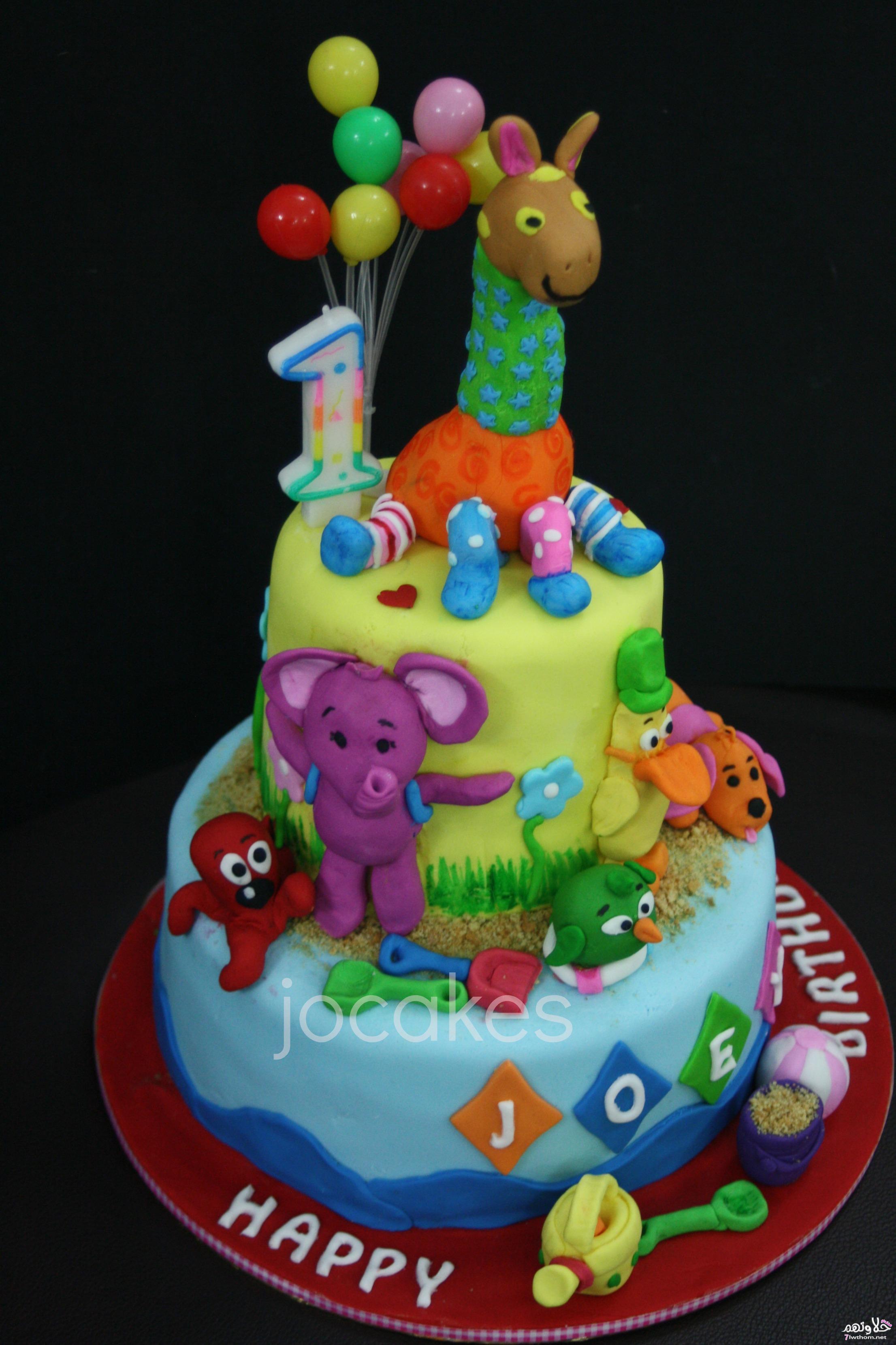 صورة اشكال تورتات اعياد ميلاد للاطفال