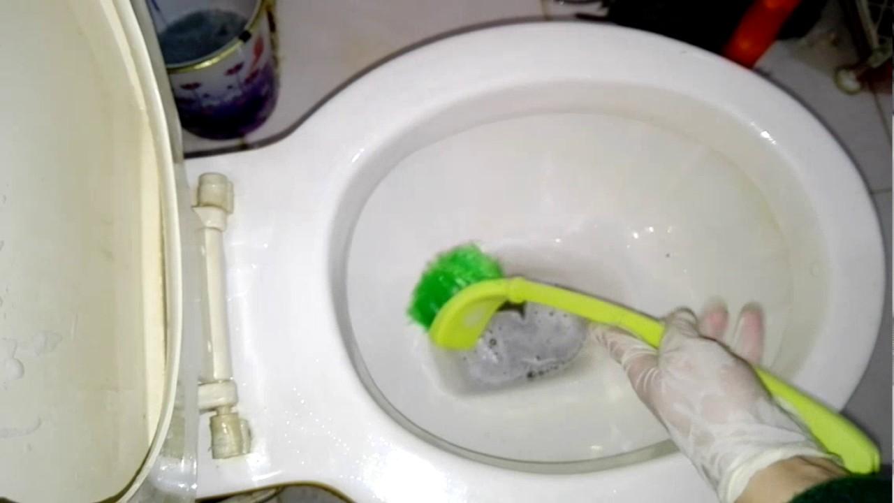 صور كيفية تنظيف الحمام الافرنجي , تنظيف الحمام الافرنجي من الاف الى اليه