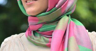 صور طريقة لف الحجاب التركي للوجه الدائري , تعلم الفه الجديد الحجاب التركي