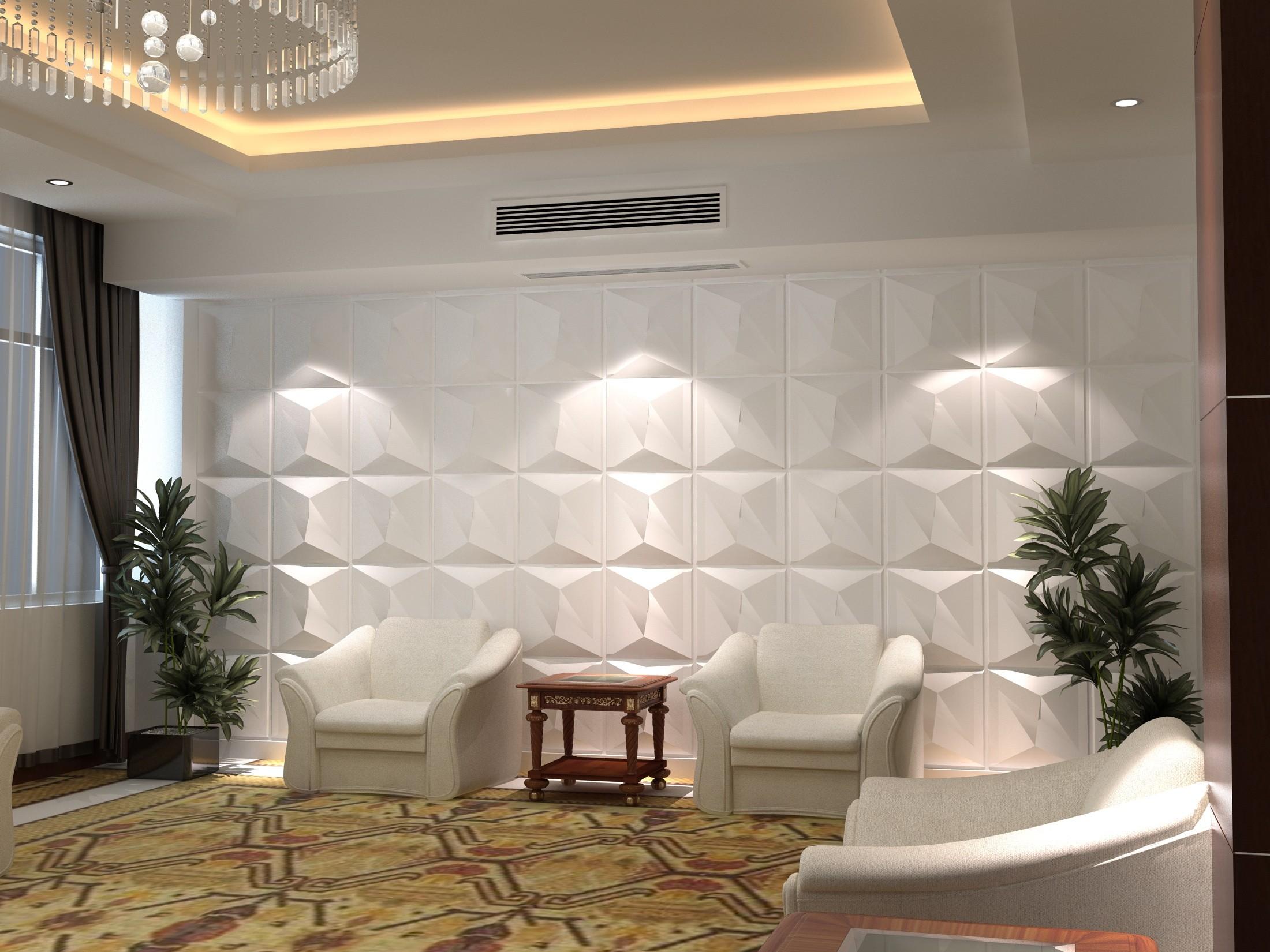 صورة ديكور جبس بورد للحائط , اشكل جميل في الحائط من الجبس