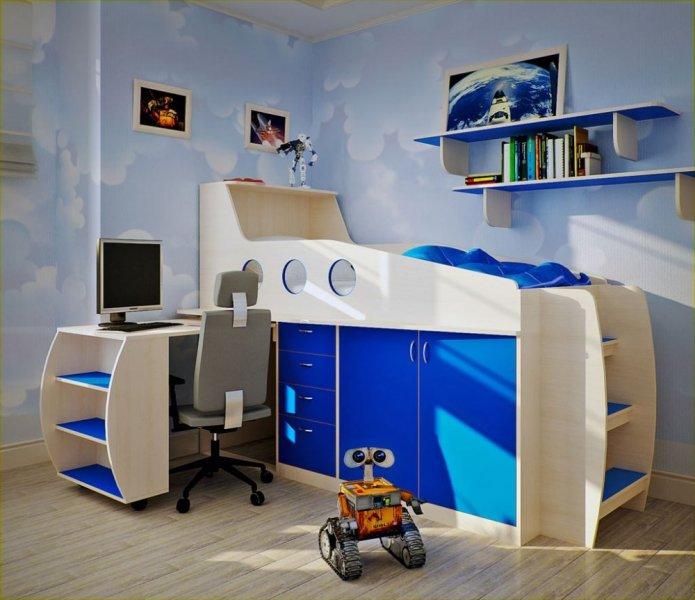 بالصور غرف نوم اطفال اولاد , ديزين مبتكر لغرف نوم الاولاد 2746 9