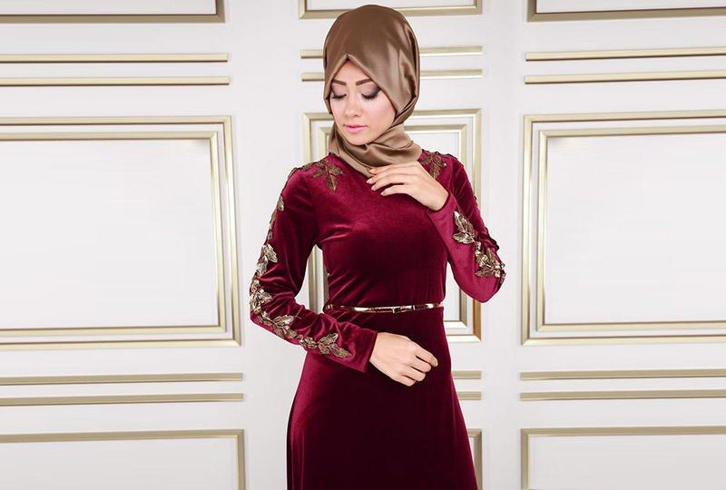 صور فستان مخمل , فساتين قطيفه جميله