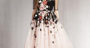 صورة اخر موديلات الفساتين , احدث صيحات فساتين السواريه