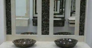 صورة اشكال مغاسل رخام طبيعي , احواض رخام مودرن